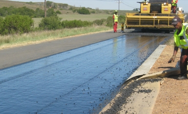 Calitzdorp reseal of trunk road